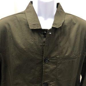 NEW wTag-PAPER DENIM & CLOTH Olive Button Jacket M